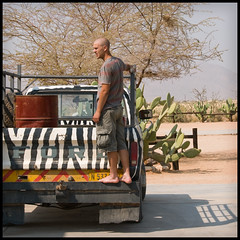 Desert Transport - Lift Anyone? (Stuart-Lee) Tags: africa man candid namibia solitaire namibnaukluftnationalpark braghettoni
