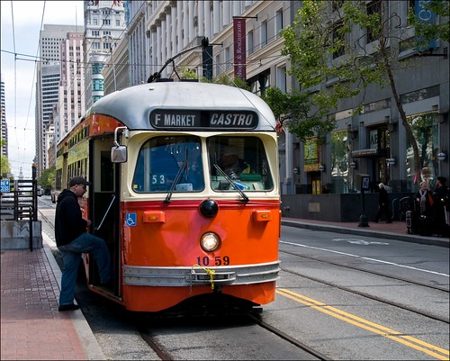 sanfrancisco california historic muni marketstreet streetcar