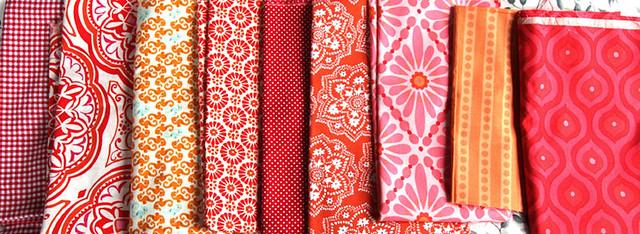 Red/orange fabrics