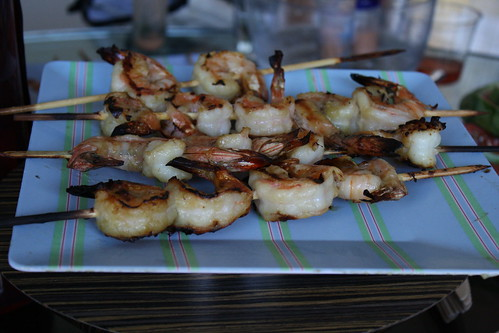 Honey Wasabi Grilled Shrimp