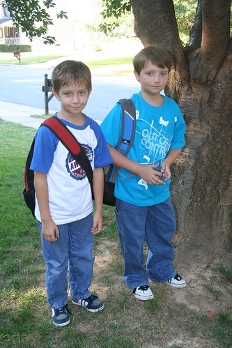9/7/10: 8:45 a.m. Boys first day of 4th and 5th grade