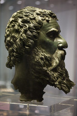 National Archaeological Museum Sofia - Bronze Head from the Golyama Kosmatka Tumulus near Shipka