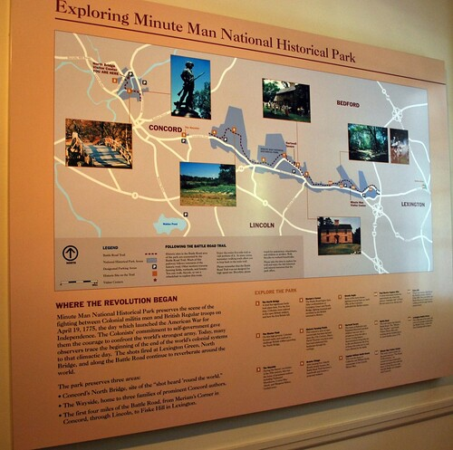 Display Sign at North Bridge Visitors Center
