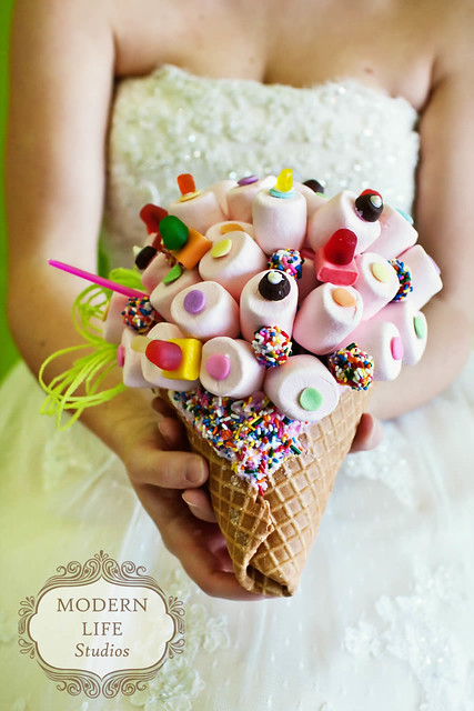yogurt wedding bouquet