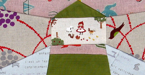 Lighthouse for Sept - Bee a little bit Japanese - detail