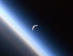 Detail: Crescent Moon, Earth's Atmosphere (NAS...