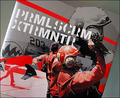 primal scream : xtrmntr (1) (japanese forms) Tags: music art typography design graphicdesign artwork 2000 album intro fonts typeface primalscream graphicarts xtrmntr creationrecords fontsinuse julianhouse japaneseforms2010