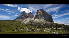 Passo Sella - Sassolungo (Photoskatto) Tags: travel light italy panorama mountain holiday alps travelling tourism nature colors composition photoshop montagne canon landscape photography