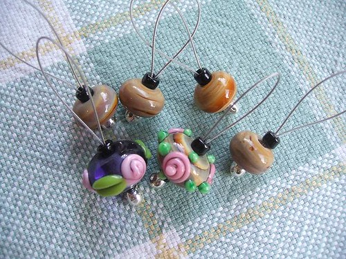 Stitch markers from Mel