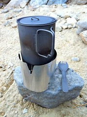 """Locus Gear Titanium Hikers Pot 750 and Sanpo's CF Stove • <a style=""""font-size:0.8em;"""" href=""""http://www.flickr.com/photos/40286809@N02/4976354363/"""" target=""""_blank"""">View on Flickr</a>"""