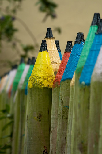 A Fence Made Of Pencils