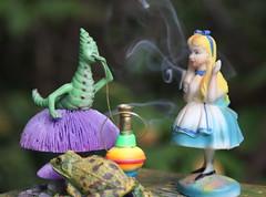 Alice meets the Caterpillar (iofdi) Tags: summer canon dof alice smoke wave smoking frog caterpillar wonderland hookah 50d 24105f4l artistictemperamentscavengerhunt atsh14