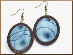 Blue mica shift earings