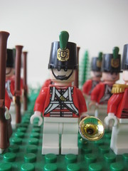 Trumpeter of the Light Company of the First Regiment of British Footguards (Tileo (tizian13)) Tags: infantry foot lego duke wellington artillery historical british wars guards 1815 1812 napoleonic grenadiers