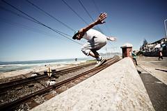 Junaid (rival412) Tags: beach southafrica jump capetown backflip muizenberg tricking