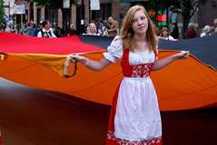 Flag Girl (pantagrapher) Tags: chicago girl gbrearview flag von parade german steuben chicagoist northcenter