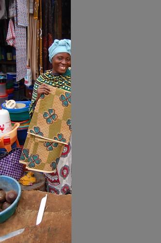 vendedora de tecidos