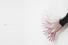 [seventy-six] (Exuberant Zest) Tags: white me wall contrast self 50mm movement hands arm fingers creative 365 conceptual f18 d90 project365 365days