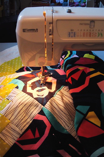 Quilting the quilt!
