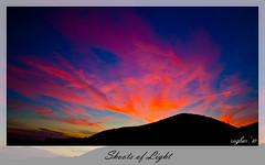 Shoots of Light (rugbier) Tags: sunset sky naturaleza mountains nature clouds landscape atardecer paisaje alicante cielo nubes montaas alguea mywinners