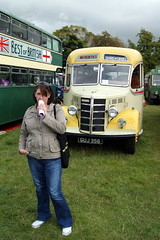 Merediths GUJ356 Bedford OB Duple and my girlfriend Becky (chrisbell50000) Tags: old bus classic vintage bedford coach girlfriend rally steam deck single becky ob preserved 2010 decker merediths malpas my duple guj356 chrisbellphotocom