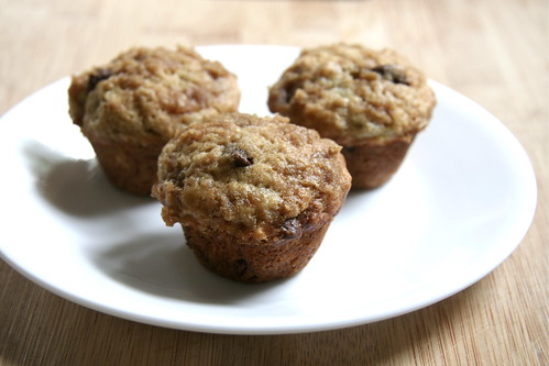 Homemade Banana Bread Muffins with Chocolate Chips