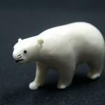 """<b>Bear</b><br/> Unknown, Eskimo American (ivory, ca. 1969) LFAC #2008:01:03<a href=""""http://farm5.static.flickr.com/4130/4996992980_0b38b48bec_o.jpg"""" title=""""High res"""">∝</a>"""