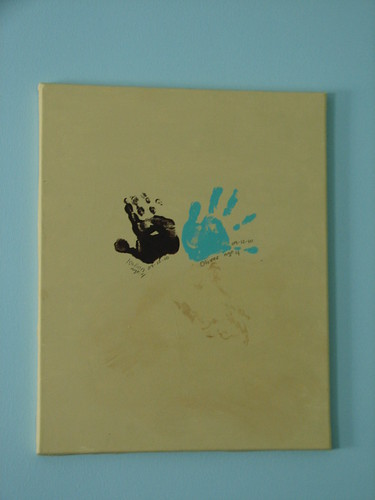 nursery  - grandchild handprint art