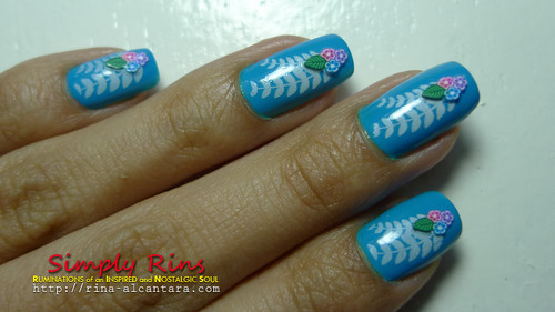 Nail Art Something Blue 05