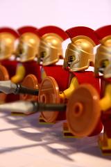 Small Arms (Mike MacLeod) Tags: building digital canon toy greek eos rebel lego roman robe helmet plastic cape shield blocks spartan spear hoplite xti