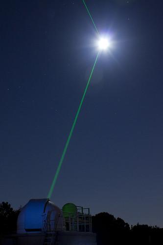 amazing lunar laser show