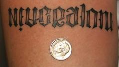Lettering tattoo (Southside Tattoo & Piercing) Tags: chris atlanta tattoo ga georgia point artist christopher piercing tattoos east lee southside tatoos lettering piercings tatoo tatu eastpoint ambigram tattooist posey tat2 tatus piercer tat2s chrisposey