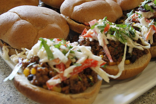 Chipotle Sloppy Joes with Crunchy Coleslaw