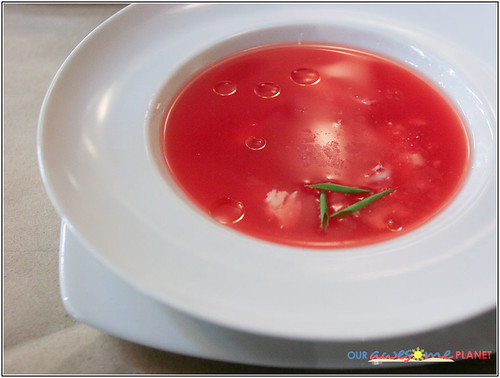 Cool Watermelon Soup (P150 +10% service charge ) . A refreshing ...