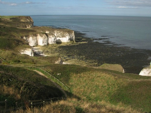 View of Flamborough cliffs from the headland