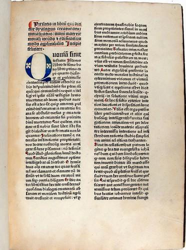 Manuscript initial in Dialogus creaturarum moralisatus