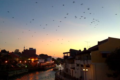 Evening by the river, Melaka Malaysia