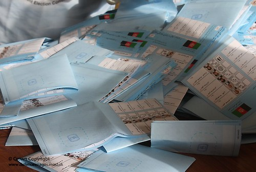 Ballot Papers at an Afghan Polling Station