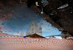 Our State of Mind (SajiAntony) Tags: sky india church reflections puddle outside bottle place kerala dirt mind gods reverse manarkad drisyam2010exhibit