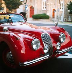jag edit (hirevimaging) Tags: old cruise classic cars tlr film car rollei rolleiflex kodak classics jersey jag jaguar cruises 80mm dellapiazza dandellapiazza