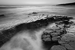 persistence... (Mac Danzig Photography) Tags: ocean longexposure sunset sea blackandwhite seascape landscape crystalcove tnc11