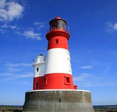 Longstone (MC's Camra) Tags: uk sea lighthouse beach islands bluesky northumberland coastal polarizer farne redandwhite longstone