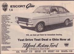 1977 Ford Escort Ghia Mk2 Ad