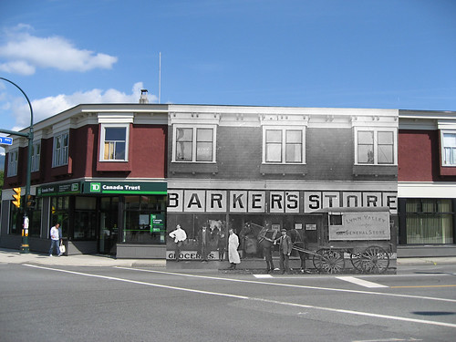Barker's Store THEN & NOW (c.1913 and 2010)