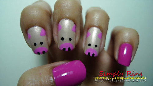 Nail Art Three Little Pigs 04