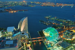 Yokohama, Minatomirai (Arutemu) Tags: street city travel urban panorama japan night asian japanese nikon asia cityscape view nightscape scenic scene nighttime  nightview yokohama minatomirai scenes japonesa japon  japones birdseyeview nihon landmarktower birdseye japonais     japonaise