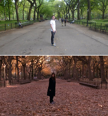 Vanilla Sky Sofia Central Park (GazTruman) Tags: park new york city nyc cruise autumn trees summer sky usa ny newyork fall film leaves tom america mall movie spring penelope centralpark central dream location cruz tomcruise vanilla filming vanillasky penelopecruz movielocations reinactment cameroncrowe filminglocations luciddream