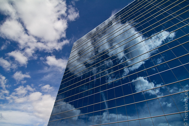Clouds and glass