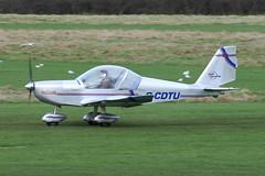 G-CDTU - 2005 build Aerotechnik EV-97 Eurostar, visiting Barton (egcc) Tags: manchester 912 eurostar barton rotax 2522 cityairport ev97 aerotechnik teameurostar cosmikaviation egcb gcdtu