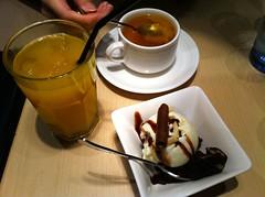 芒果汁、熟柚子茶
